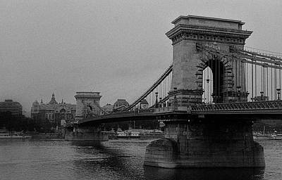 Photograph - Chain Bridge Budapest Unframed by Weston Westmoreland