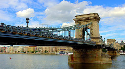 Photograph - Chain Bridge From Buda Side by Caroline Stella