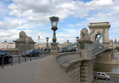 Photograph - Chain Bridge In Budapest  by Caroline Stella