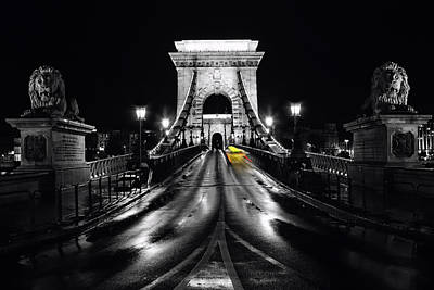 Chain Bridge In Budapest Original