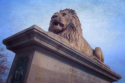 Buda Photograph - Chain Bridge Lion by Joan Carroll