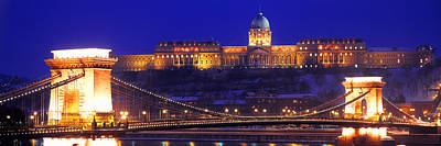 Hungary Travel Photograph - Chain Bridge, Royal Palace, Budapest by Panoramic Images