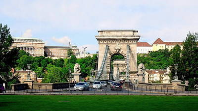 Photograph - Chain Bridge Scenic Budapest by Caroline Stella