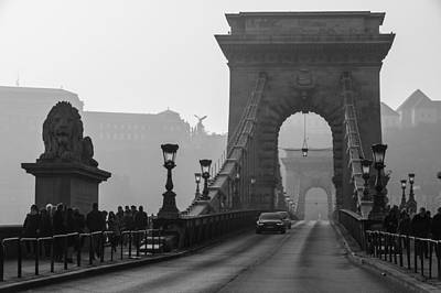 Photograph - Chain Bridge With The Lion by Judith Barath