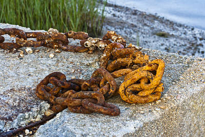 Rights Managed Images - Chain gang for Moorings 2 Royalty-Free Image by Dennis Coates