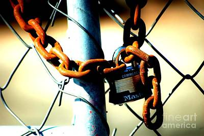 Photograph - Chained by Christiane Hellner-OBrien