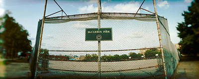 Public Park Photograph - Chainlink Fence In A Public Park by Panoramic Images