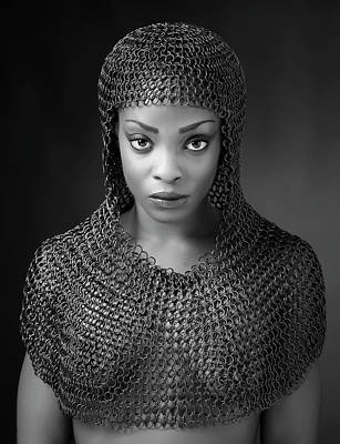 Warrior Woman Wall Art - Photograph - Chainmail Lady by Ross Oscar