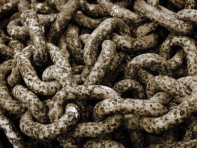 Chains Art Print by Mark Rogan