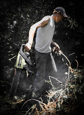 Photograph - Chainsaw by Christy Usilton