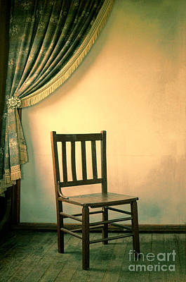 Photograph - Chair And Curtain by Jill Battaglia