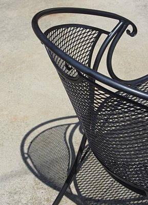 Photograph - Chair And Shadow 2 by Anita Burgermeister