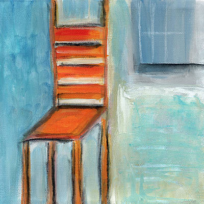Chair By The Window- Painting Art Print by Linda Woods