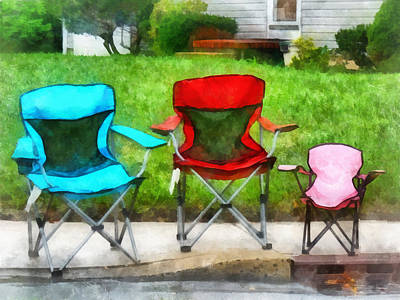 Folding Chair Photograph - Chair Family by Susan Savad