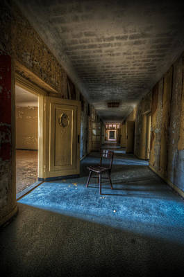 Brick Buildings Digital Art - Chair In The Light by Nathan Wright