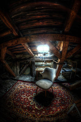 Eerie Digital Art - Chair In The Loft by Nathan Wright