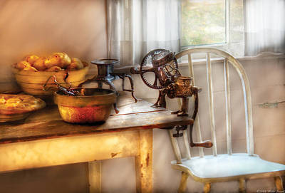 Chair - Kitchen Preparations  Art Print by Mike Savad