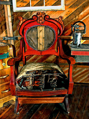 Re-purposed Photograph - Chair Needs Repair by Sylvia Thornton