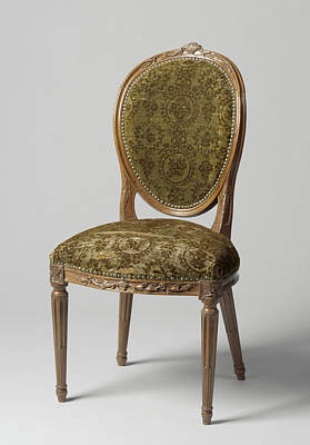 Chair Of Mahogany, Lined With Green Mock-velvet Print by Quint Lox