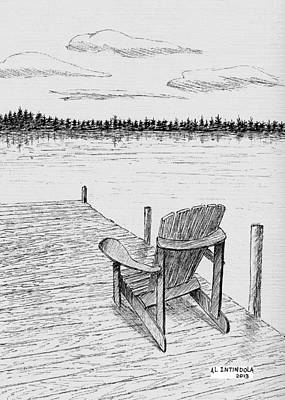 Chair On The Dock Art Print by Al Intindola