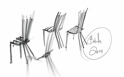 Digital Art - Chair Sculpture by Khaya Bukula