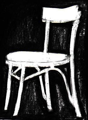 Chalk Drawing - Chair Silhouette by Billy Granneman
