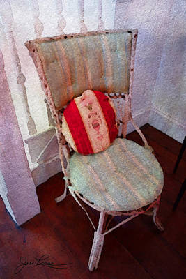 Painting - Chair With Red Pillow by Joan Reese