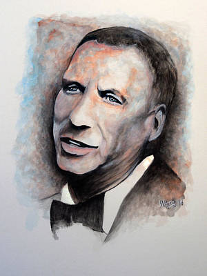 Chairman Of The Board - Sinatra Art Print by William Walts
