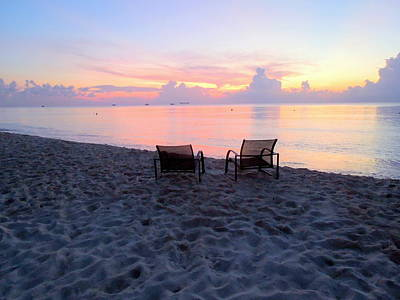 Photograph - Chairs At Sunset by Caroline Stella