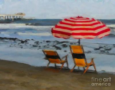 Chairs At The Beach Original by Barbara Rabek
