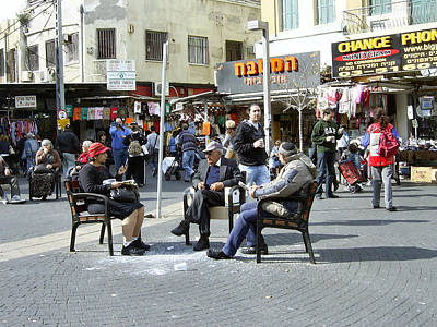 Photograph - Chairs At The Tel Aviv Market by Esther Newman-Cohen