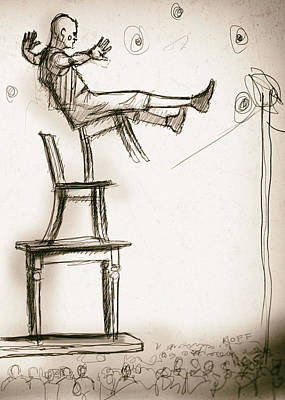 Balance Drawing - Chairs by H James Hoff
