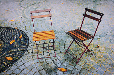 Photograph - Chairs In A Rainy Oporto by Pablo Lopez