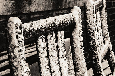 Photograph - Chairs In The Snow by Arkady Kunysz