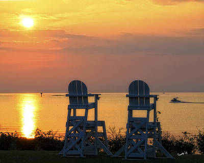 Photograph - Chairs In The Sunset by Maureen Cunningham