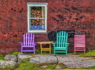 Chairs Of West Dover Art Print by Ken Morris