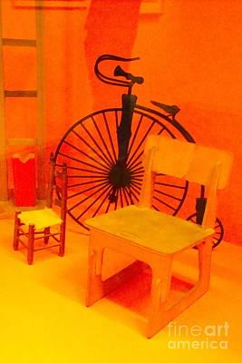 Chairs Spoke Art Print