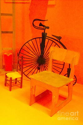 Chairs Spoke Art Print by Cathy Dee Janes