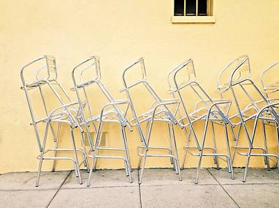 Photograph - Chairs Stacked by Julie Gebhardt