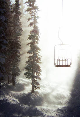 Ski Photograph - Chairway To Heaven by Kevin Munro