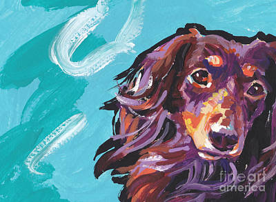 Dachshund Puppy Painting - Chaka Dox by Lea S