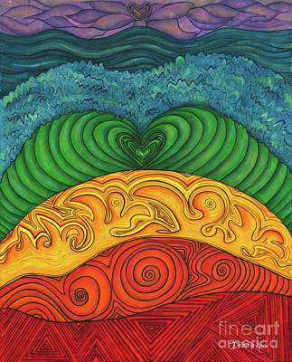 Chakra Rainbow Painting - Chakra Ascension by Deborha Kerr