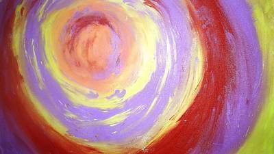 Diwali Painting - Whirlpool Of Hues by Jagjeet Kaur