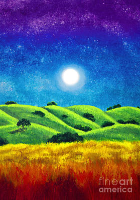 Chakra Rainbow Painting - Chakra Landscape by Laura Iverson