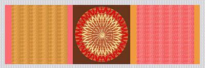 Chakra Painting - Chakra Mandala With Crystal Stone Healing Energy Plates By Side  Navinjoshi Rights Managed Images Fo by Navin Joshi