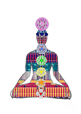 Chakra Yoga Mandala  Buy Faa Print Products Or Down Load For Self Printing Navin Joshi Rights Manage Art Print by Navin Joshi