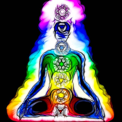 Chakras At Work Print by Mary Burr