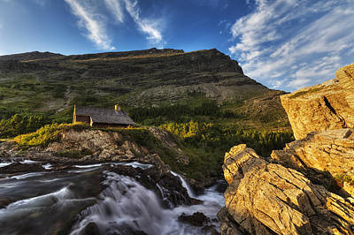 Log Cabin Photograph - Chalet At The Falls by Mark Kiver