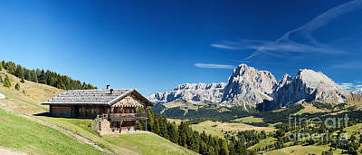 Art Print featuring the photograph Chalet In South Tyrol by Carsten Reisinger