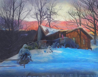Painting - Chalet In The Snow by Melody McBride